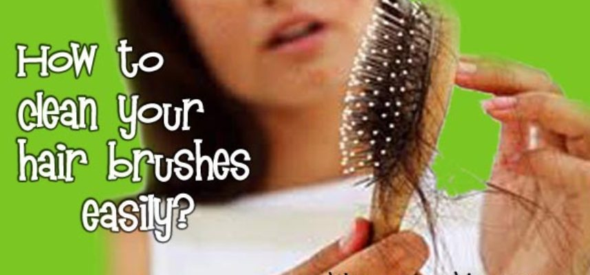 clean your hair brushes